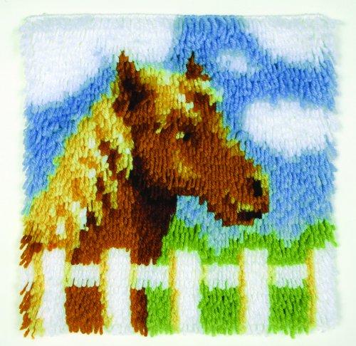 Caron WonderArt Welpe Knüpfhaken-Kit Pony