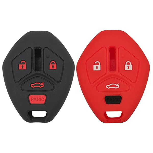 Silicone Remote Key Cover Fits For Mitsubishi Lancer Outlander Galant Fob Case