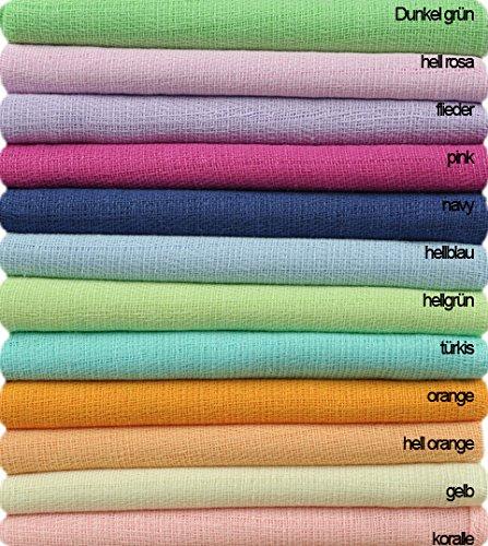 Mullwindel einfarbig 80x80, viele Farben zur Wahl,115g/m2, saugstark, farbecht praktisch als Spucktuch, einzeln zusammenstellbar! (pink)