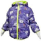 ボーイズキッズ[Blue Mart(ブルーマート)]男の子 男児 子供 パッチワークデニム柄中綿ジャンパー ジャケット 上着100cm ネイビー-パッチワークデニム