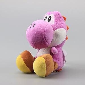 UiUoU Super Mario Bros. Set of 9 Yoshi Plush Toys 6 Green Yoshi, Red Yoshi, White Yoshi, Purple Yoshi, Light Blue Yoshi, Dark Blue Yoshi, Black Yoshi, Yellow Yoshi, and Pink Yoshi