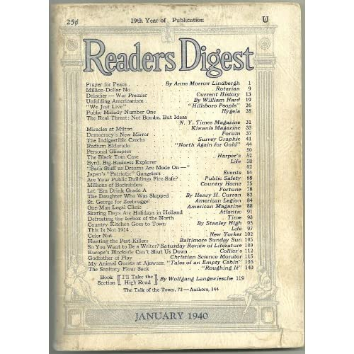 Reader's Digest January 1951 Louis Nizer Rex Beach +++