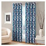 FASHIONFAB 2 Piece Polyester Long Door Curtain - 9ft, Sky Blue