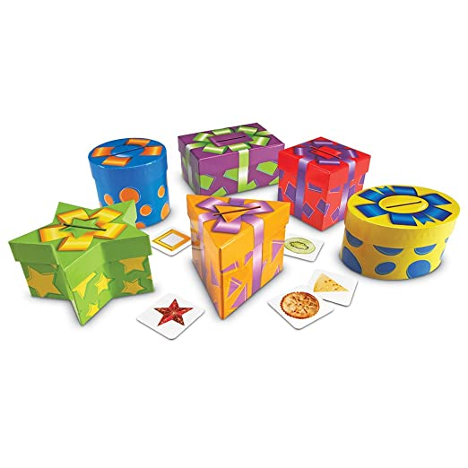 Learning Resources Jeu de Cartes/de Cadeaux pour Trier les Formes