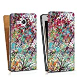 Design bag case for Sony Xperia SP DesignTasche Downflip white - Autumn8
