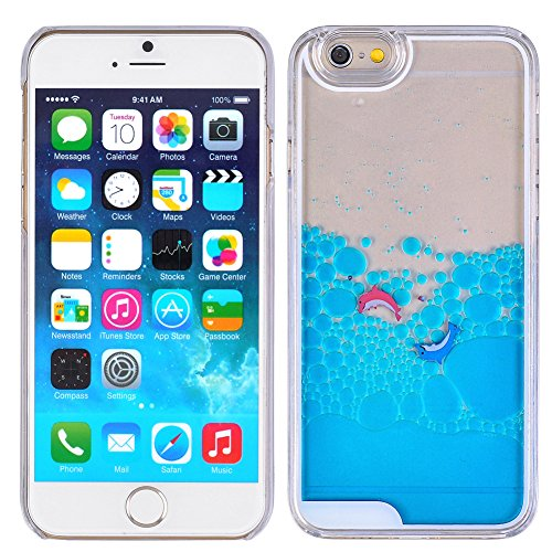 Aquarium Dolphin Dynamic Liquid QuicksandCase For iPhone 6 6S