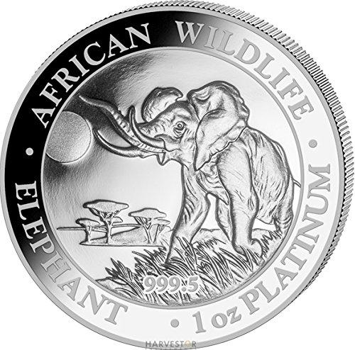 2016 Somalia Elephant - 1 oz. Platinum Proof Elephant