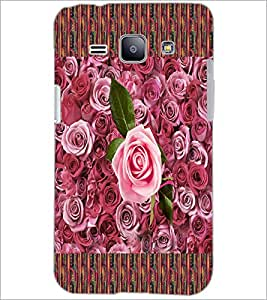 PrintDhaba Roses D-5657 Back Case Cover for SAMSUNG GALAXY J1 (Multi-Coloured)