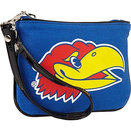 ashley-m-university-of-kansas-jayhawk-canvas-wristlet-manmade-handbag-new