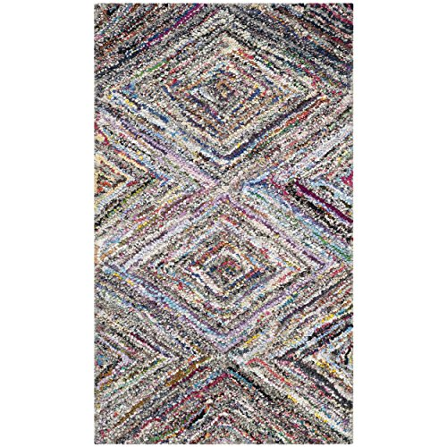Safavieh Nantucket Collection NAN314A Handmade Multicolored Cotton Area Rug, 2 feet 3 inches by 4 feet (2'3