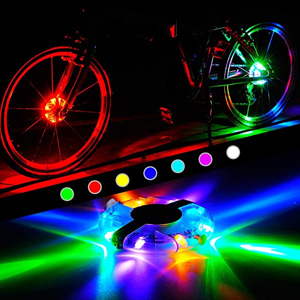 Cycling Bike Wheel Hub Light Lamp Waterproof Bicycle Safety Lights Rechargeable