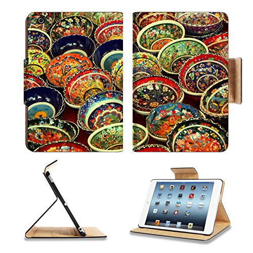 Colorful Turkish Tea Bowls 3Dcom Apple Ipad Mini Flip Case Stand Smart Magnetic Cover Made To Order Premium Deluxe Pu Leather