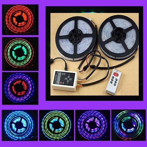 Siga 10M 2X 5M 300Leds 5050 Rgb Dream Color 6803 Ic Led Strip 133 Change+ Rf Magic Rmote