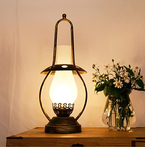Vintage house table lamp bedroom bedside decoration table lamps vintage house table lamp bedroom bedside decoration table lamps creative retro nostalgic old oil lamps aloadofball Image collections