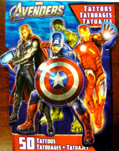 Avengers Temporary Tattoos - 50 Tattoos per package! - 1