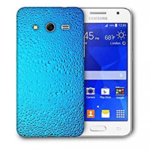 Snoogg Blue Water Drops Printed Protective Phone Back Case Cover For Samsung Galaxy Core 2 / Core II G355H