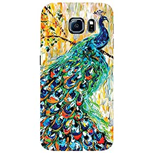 Peacock - Mobile Back Case Cover For Samsung Galaxy S6 Edge