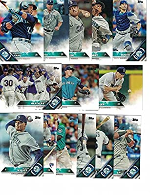 Seattle Mariners / Complete 2016 Topps Series 1 Baseball Team Set. FREE 2015 Topps Mariners Team Set WITH PURCHASE!