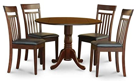 5-Pc Dinning Set in Mahogany Finish