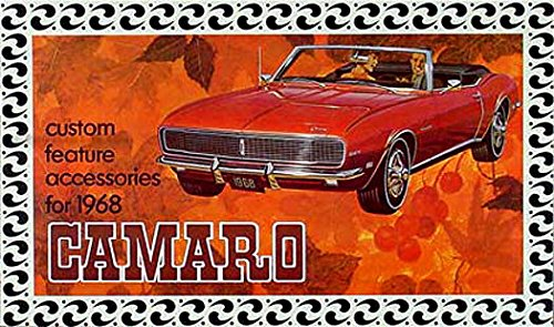 COMLETE & UNABRIDGED 1968 CHEVY CAMARO CUSTOM FEATURE ACCESSORIES CATALOG For; RS (Rally Sport), SS (Super Sport), Z-28, and other Chevy cars (Camaro Z28 Mat compare prices)