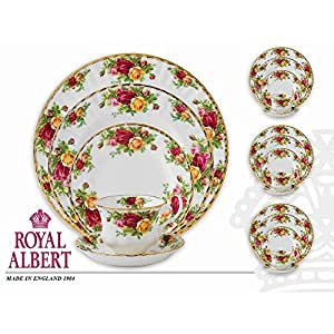 Royal albert old country roses 20 piece dining set for Kitchen set royal surabaya