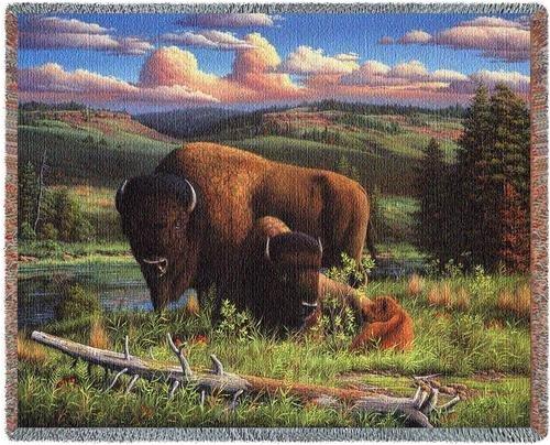 Buffalo Nation Throw - 53 x 70 Blanket/Throw