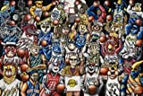 Let's Get It Started - A collection of NBA Mascots and best known Fans from across the league. A reproduction of an original oil painting. This is a high quality digital print on 36 LBS ultra smooth offset bond paper. Dimensions are 24