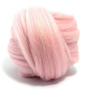 Giant Wool Yarn Chunky Merino Arm Knitting Super Soft Wool Yarn Bulky Wool Roving Pink 2.2 lbs (Color: Pink, Tamaño: 2.2 lbs)