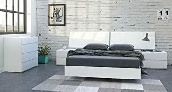 5-Pc Eco-friendly Full Bedroom Set in White Finish