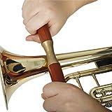 QuTess Saxophone Trumpet Trombone Sheet Metal Repair Instrument Hand-held Wooden Handle Pressure Roller Pipe Sheet Metal Repair Tools