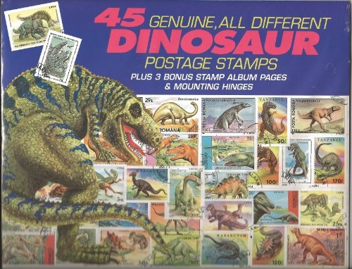 45 Genuine Postage Stamps Assortment - Dinosaurs