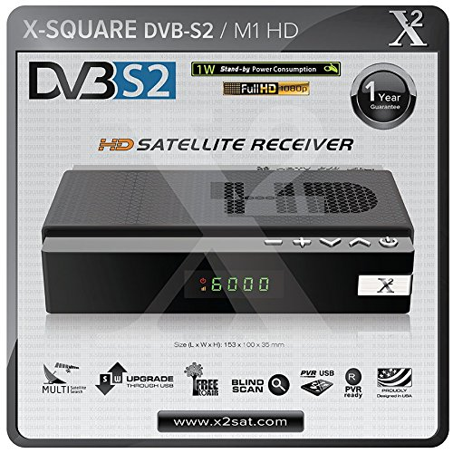 X2 HD DVB-S2 Mini Digital Satellite Receiver & USB PVR Media Player