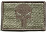 Punisher Tactical Patch - ATACS Tan