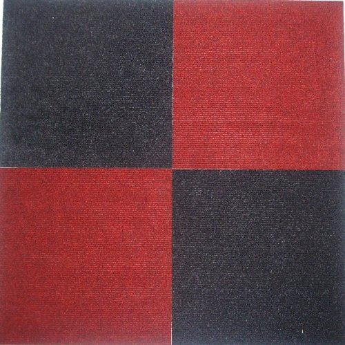 Peel And Stick Carpet Tiles Red 12 Inch 36 Square Feet