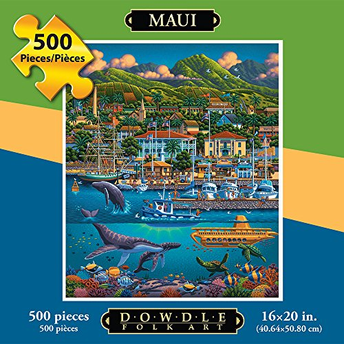 Jigsaw Puzzle - Maui Hawaii 500 Pc By Dowdle Folk Art