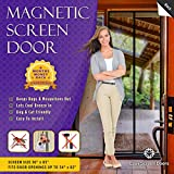 Magnetic Screen Door, Mesh Curtain - Mosquito Net Keeps Bugs Out, Lets Cool Breeze In - 6 Month Money Back Guarantee - Premium Quality - Toddler And Pet Friendly - Fits Doors Up To 34