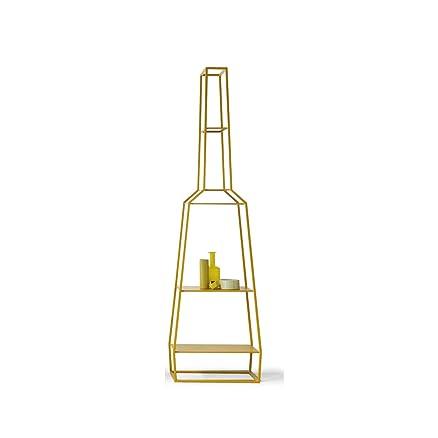 BONALDO libreria April gialla in metallo di design moderno per sala casa tc20