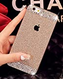 iPhone 6 Case, UnnFiko Beauty Luxury Diamond Hybrid Glitter Bling Hard Shiny Sparkling with Crystal Rhinestone Cover Case for Apple iPhone 6 (4.7) - Retail Packaging (Gold, iPhone 6)