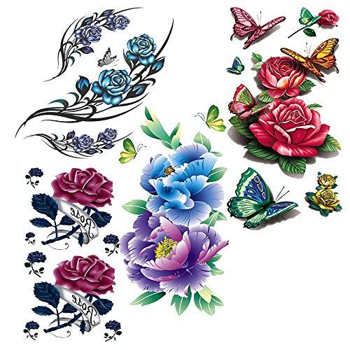 evtechtm-4-style-mix-blossom-fleurs-floral-animaux-papillon-rouge-pivoine-rose-pourpre-lotus-chinese