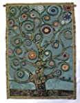 Green Mandala Tree of Life Tapestry W...
