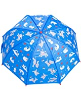 Babalu Raining Cats and Dogs Umbrella, Blue/Red