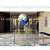 HOHO Transparent Screen Film Holographic Projector Rear Projection Film Self Adhesive Sticker,152cmx100cm (Color: transparent, Tamaño: 152cmx100cm)