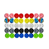 BeautyMood 40pcs Colorful Silicone Accessories Replacement Parts Thumb Grip Cap Cover For PS2, PS3, PS4, XBox 360, XBox One Controller