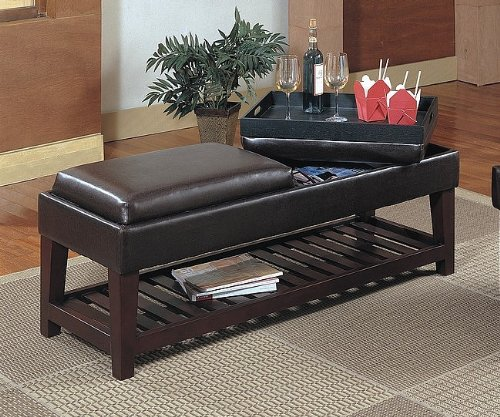 Italian Ottoman Coffee Table: Buy Low Price OSP Designs Metro Collection Faux Leather