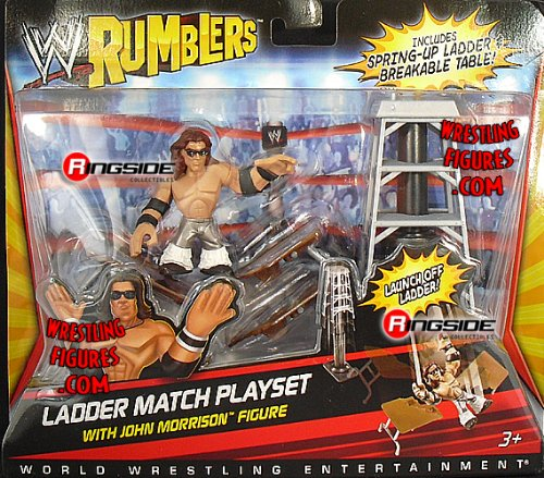Buy Low Price WRESTLING JOHN MORRISON W/ LADDER MATCH ACCESSORIES WWE RUMBLERS WWE Toy Wrestling Action Figure (B004LNSAEK)