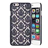 Case for iPhone 6 Plus / iPhone 6s Plus, Moonmini Baroque Retro Court Lace Pattern Texture Hard Plastic Clear Case for Apple iPhone 6 Plus / Apple iPhone 6s Plus 5.5 Inch (Black)