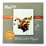 Speedball Art Products 811224 Fluid 100 Artist Watercolor Paper 140 lb Cold Press, 12 x 12 Block, 100% Cotton Natural White (Color: 100% Cotton Natural White, Tamaño: 12 x 12  BLOCK)