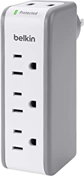 Belkin 3-Outlet SurgePlus Travel Swivel Charger Surge Protector