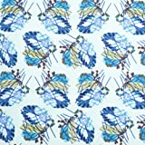 V&A Fabric - Feather (Navy)
