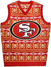 Forever Collectibles NFL San Francisco 49ers Ugly Sweater Vest, Large, Red